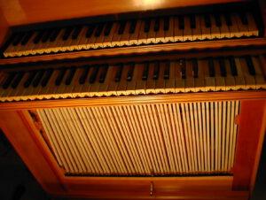 Truhenorgel, 3 Register, italienisch