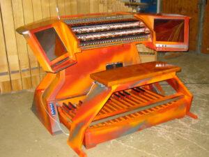 Harder-Völkmann München Orgelbau Spieltisch Dennerlein